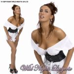 SEXY DELUXE PVC / Chiffon Wench Costume